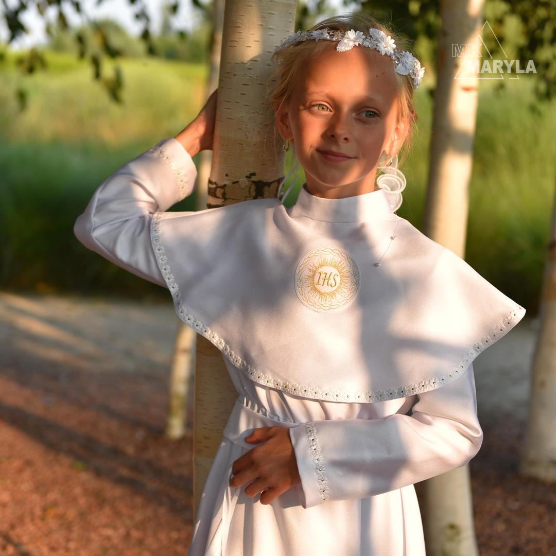 sukienka z gumą i kołnierzem Julia ZŁ-103