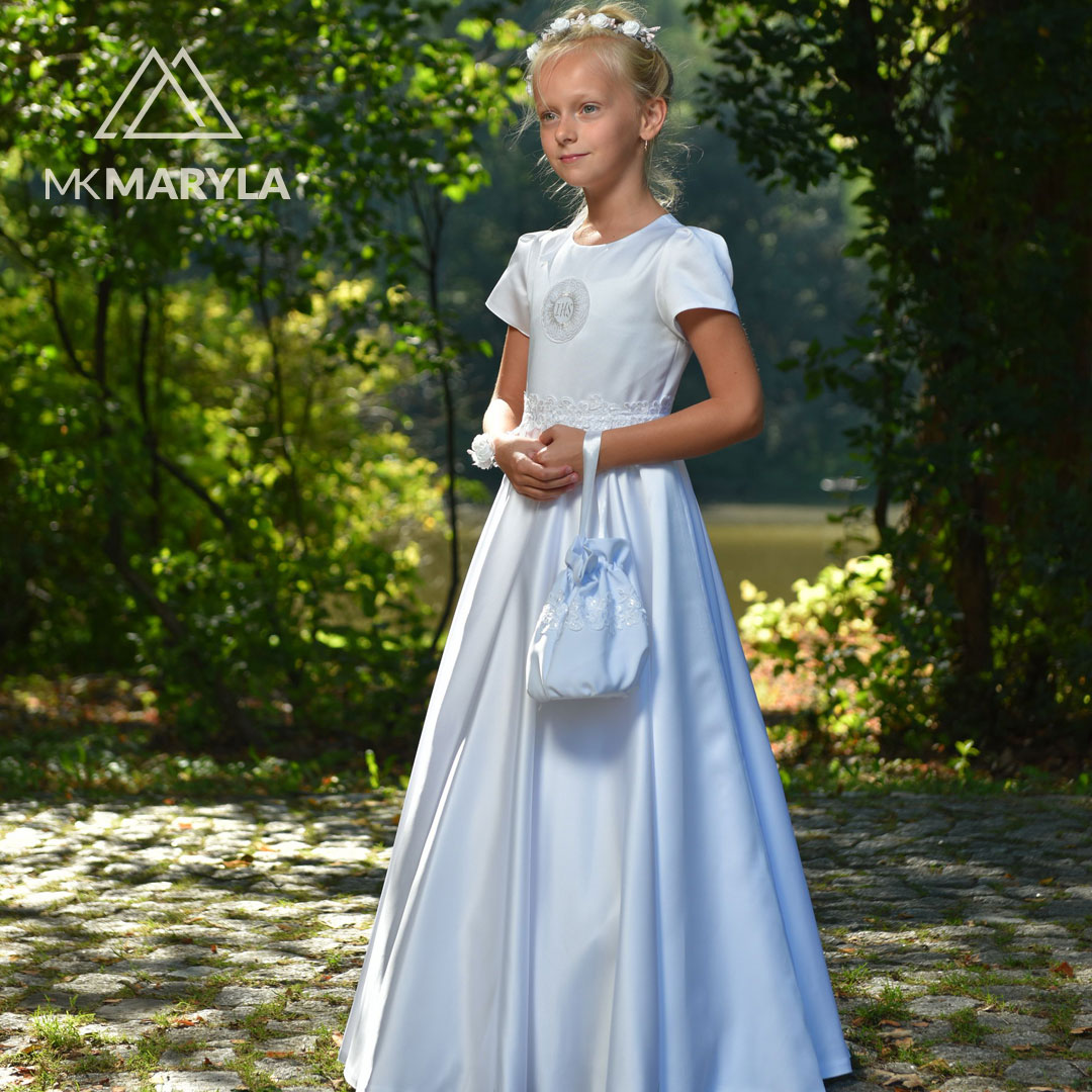 Marta SR-053 - delikatna sukienka do Pierwszej Komunii Świętej