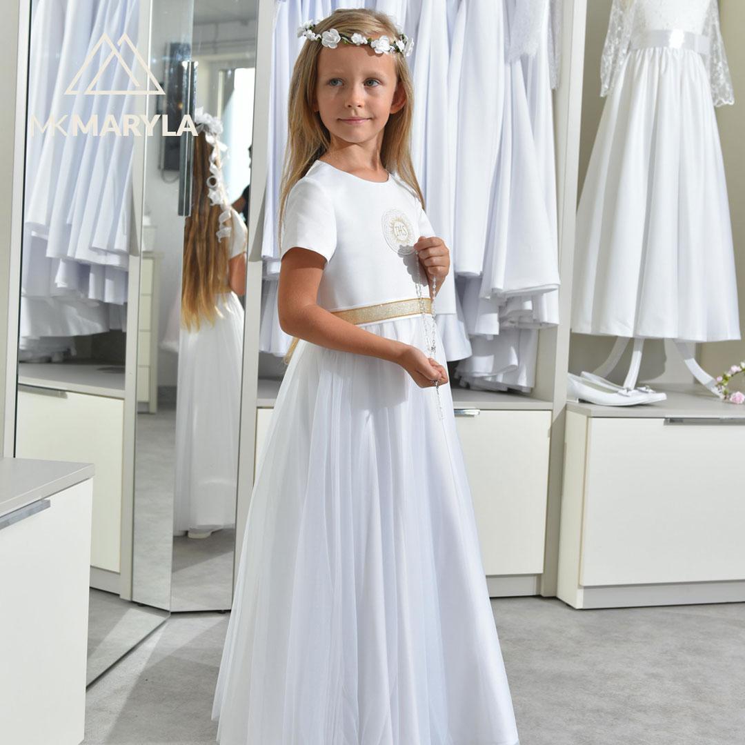 Sukienka z szyfonem do Komunii - Tosia ZŁ-025